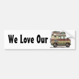 Autocollant De Voiture Custom Van Camper RV Bumper Sticker