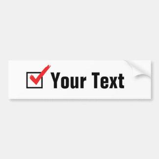 Autocollant De Voiture Customisez votre propre statut social - annonce