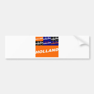 Autocollant De Voiture Cycling de Pays-Bas