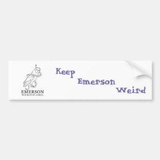 Autocollant De Voiture D'adhésif pour pare-chocs étrange d'Emerson