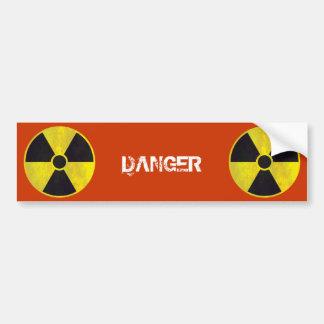 Autocollant De Voiture Danger radioactif du panneau d'avertissement |