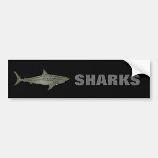 Autocollant De Voiture Danger - requins sauvages
