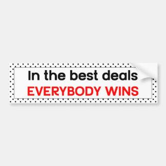 Autocollant De Voiture Dans les meilleures affaires tout le monde gagne