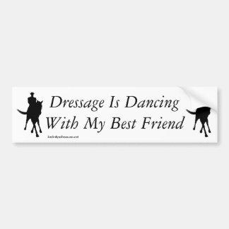 Autocollant De Voiture Danse de dressage avec mon cheval de meilleur ami