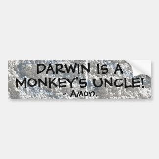 Autocollant De Voiture Darwin est l'oncle d'un singe !