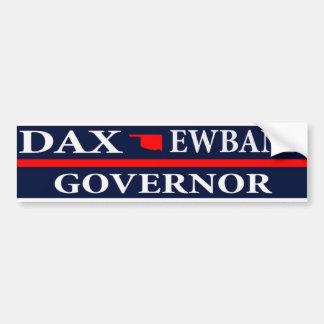Autocollant De Voiture Dax Ewbank pour le gouverneur de l'Oklahoma
