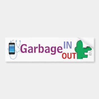 """Autocollant De Voiture """"De déchets DEDANS - de déchets autocollant"""""""