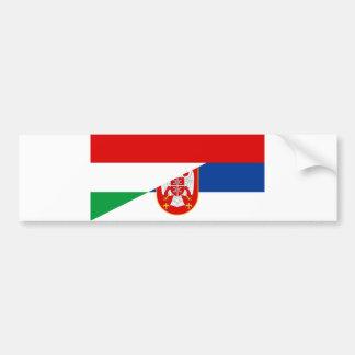 Autocollant De Voiture de symbole de pays de drapeau de la Hongrie Serbie