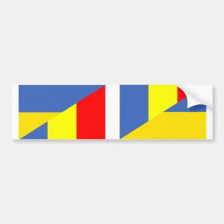 Autocollant De Voiture de symbole de pays de drapeau de l'Ukraine