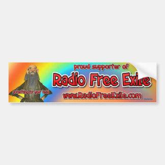 Autocollant De Voiture défenseur fier de l'exil libre par radio