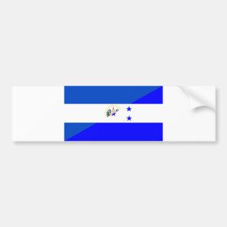 Autocollant De Voiture demi de symbole de pays de drapeau du Salvador