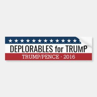 Autocollant De Voiture Deplorables pour des penny de Donald Trump Mike -