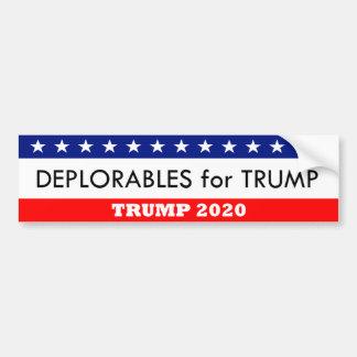 Autocollant De Voiture Deplorables pour l'atout 2020