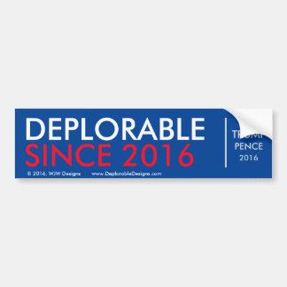 Autocollant De Voiture DeplorableSince2016