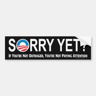 Autocollant De Voiture Désolé encore ? Anti adhésif pour pare-chocs d'Oba
