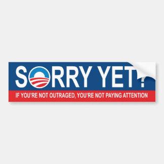 Autocollant De Voiture Désolé encore ? Anti Obama