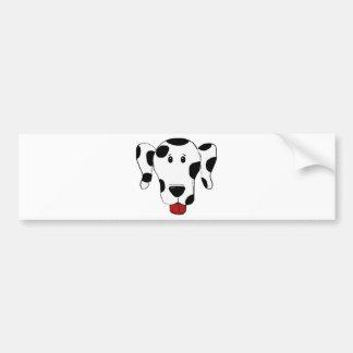 Autocollant De Voiture Dessin dalmatien de chien