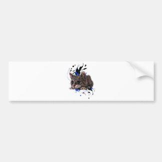 Autocollant De Voiture Dessin de chaton comme chat avec l'art de peinture