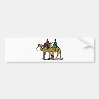 Autocollant De Voiture Deux types de chameau