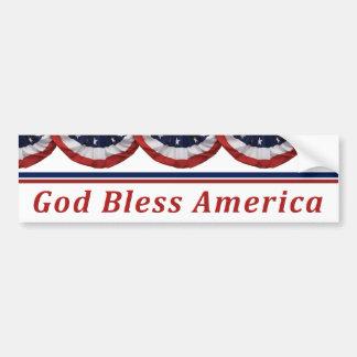 Autocollant De Voiture Dieu bénissent le drapeau américain patriotique de