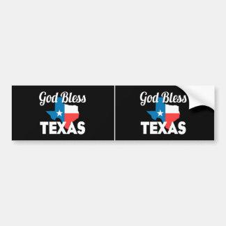 Autocollant De Voiture Dieu bénissent le Texas