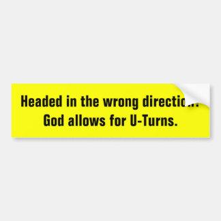 Autocollant De Voiture Dieu permet à demis-tours l'adhésif pour