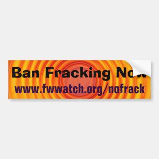 Autocollant De Voiture D'interdiction de Fracking adhésif pour pare-chocs