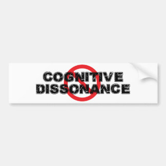 Autocollant De Voiture Dissonance cognitive d'interdiction