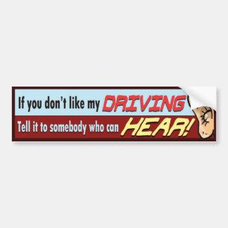 Autocollant De Voiture Dites-le à sombody qui peut ENTENDRE !