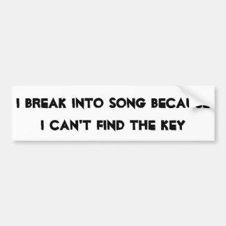 Autocollant De Voiture Divisez en chanson sans clé