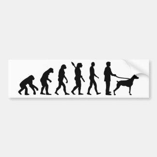 Autocollant De Voiture Dobermann d'évolution