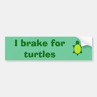 Autocollant De Voiture Donnez à des tortues un frein !