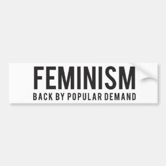 Autocollant De Voiture Dos du féminisme par une demande populaire