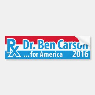 Autocollant De Voiture Dr. Ben Carson 2016 - prescription pour l'Amérique
