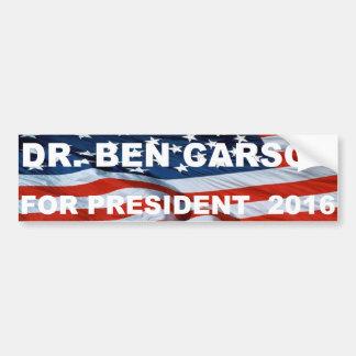 Autocollant De Voiture Dr.Ben Carson pour l'adhésif pour pare-chocs 2016