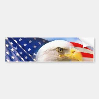 Autocollant De Voiture Drapeau américain avec Eagle chauve