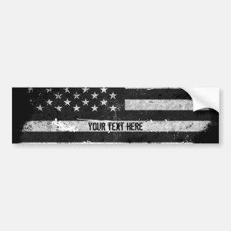 Autocollant De Voiture Drapeau américain grunge noir et blanc