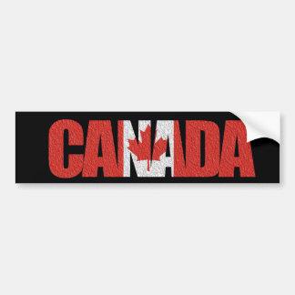 """Autocollant De Voiture Drapeau canadien au """"Canada"""" sur le noir"""