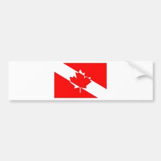 Autocollant De Voiture Drapeau canadien de plongeur autonome