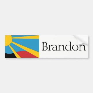 Autocollant De Voiture Drapeau de Brandon, adhésif pour pare-chocs du