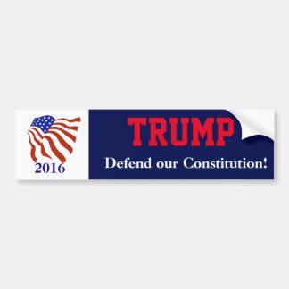 Autocollant De Voiture Drapeau de constitution de Donald Trump