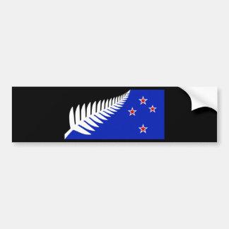 Autocollant De Voiture Drapeau de fougère argentée de la Nouvelle Zélande
