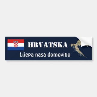 Autocollant De Voiture Drapeau de la Croatie + Adhésif pour pare-chocs de