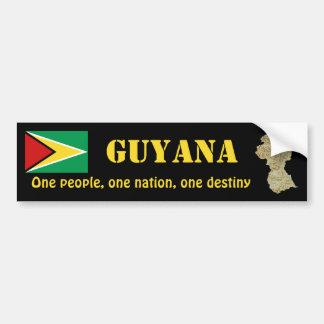 Autocollant De Voiture Drapeau de la Guyane + Adhésif pour pare-chocs de