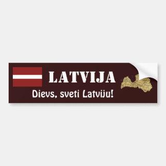 Autocollant De Voiture Drapeau de la Lettonie + Adhésif pour pare-chocs