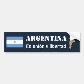 Autocollant De Voiture Drapeau de l'Argentine + Adhésif pour pare-chocs
