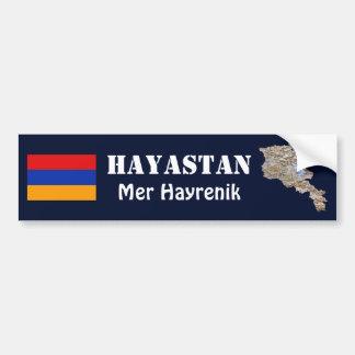 Autocollant De Voiture Drapeau de l'Arménie + Adhésif pour pare-chocs de