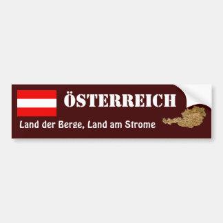 Autocollant De Voiture Drapeau de l'Autriche + Adhésif pour pare-chocs de