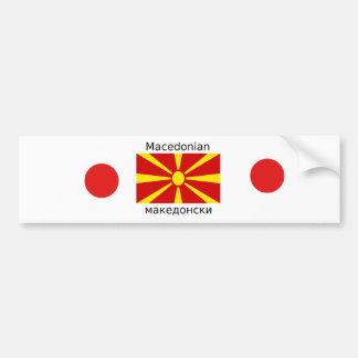Autocollant De Voiture Drapeau de Macédoine et conception macédonienne de