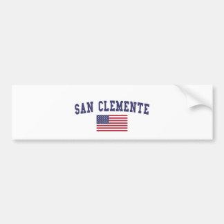 Autocollant De Voiture Drapeau de San Clemente USA